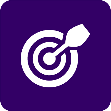 our purpose icon - bullseye