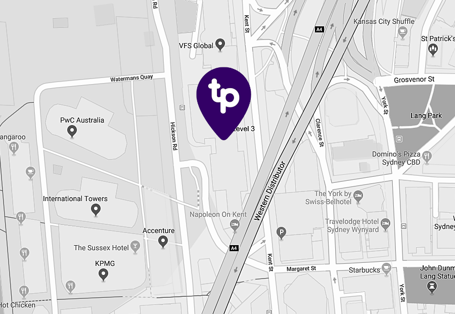 Map of technology people office location