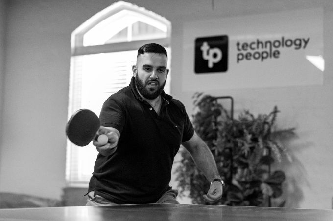 Our Culture - Anthony playing ping pong