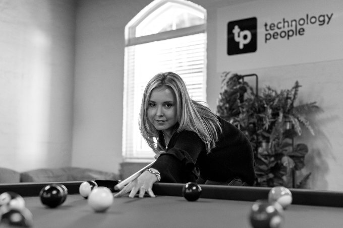 Our culture - Emma Dwyer playing pool