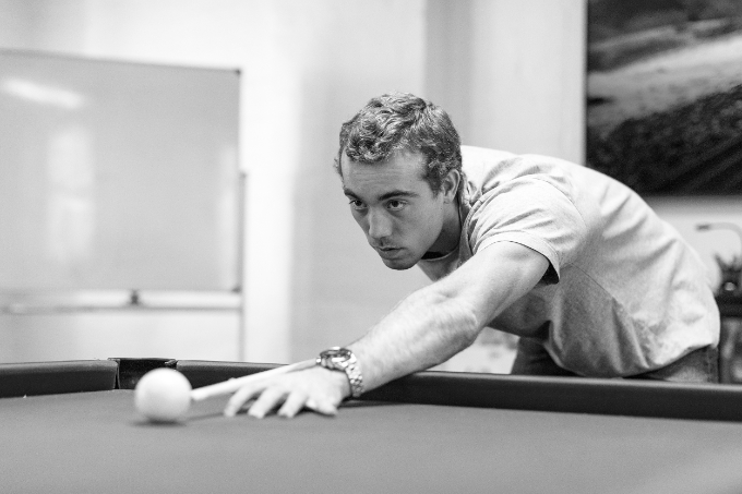 Our culture - Luca playing pool